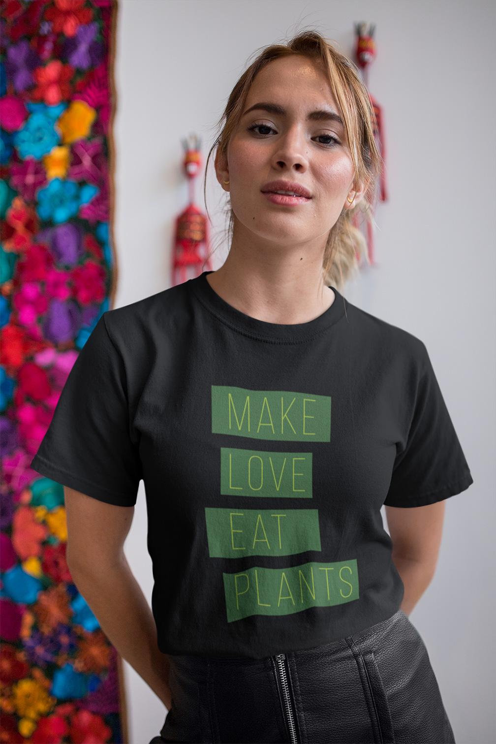 Avocadista Make Love Eat Plants Vegan plant based T-Shirt