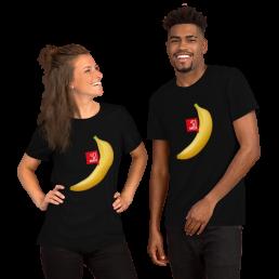 Vegan Let's Get Naked Banana plant based fruit T-Shirt