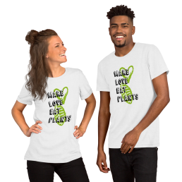 Vegan Make Love Eat Plants 1 Men / Unisex T-Shirt