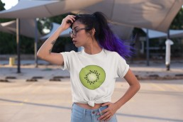 Avocadista Kiwi Vegan plant based fruit T-Shirt