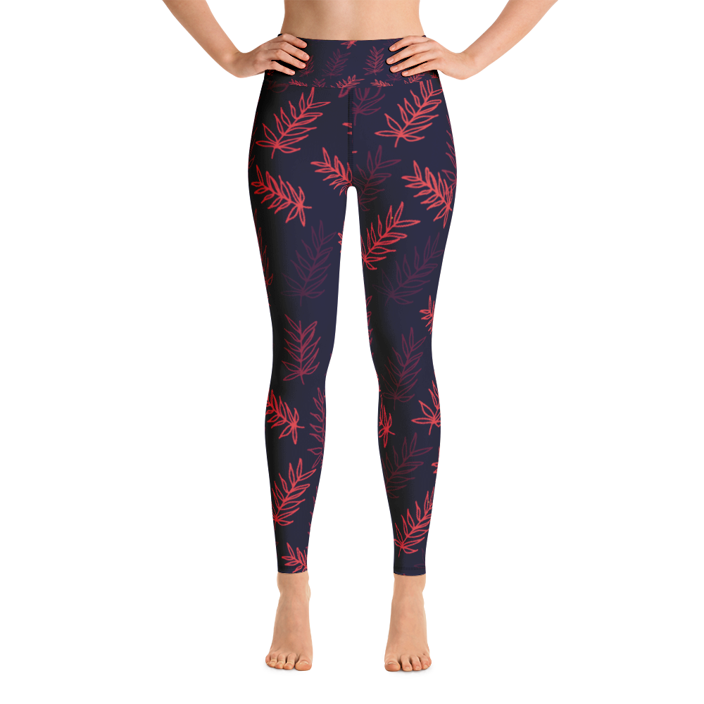 Avocadista Palm Leaf Yoga Leggings Pants active Wear Pilates