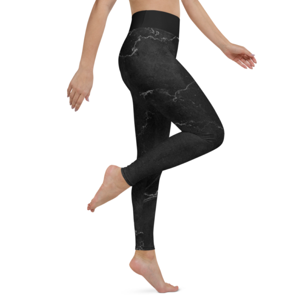 Black Marble Yoga Leggings Tights Pants Active Wear Pilates