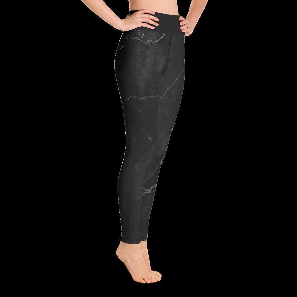 Black Marble Yoga Leggings Pants Active Wear Pilates