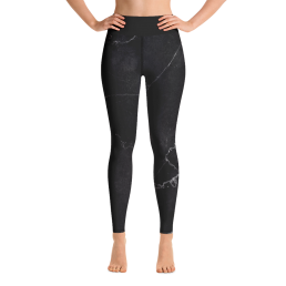 Black Marble Yoga Leggings Pants Active Wear Pilates
