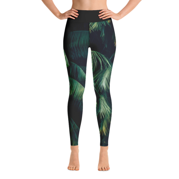 Zen Palm Yoga Leggings Pants Active Wear Pilates