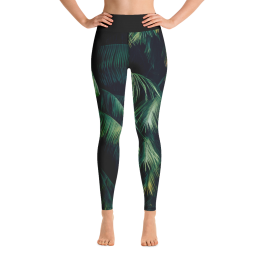 Zen Palm Yoga Leggings Pants Active Wear Pilates