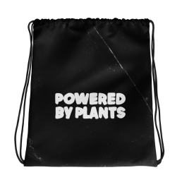 Powered By Plants Vegan Plant based Gym Bag Pilates