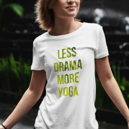 Avocadista Less Drama More Yoga T-Shirt