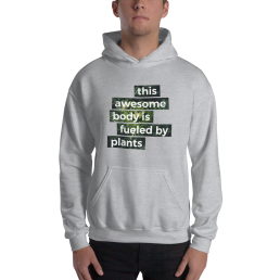 Awesome Body Vegan plant based Hoodie Pullover