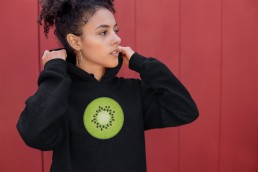 Avocadista Kiwi Fruits Vegan plant based Hoodie Pullover