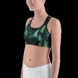 Zen Palm Yoga Sports Bra Active Wear Pilates