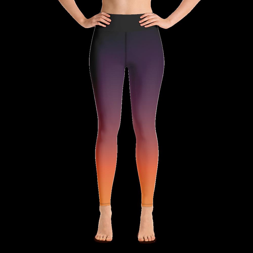 Sunset Yoga Leggings Pants Active Wear Pilates