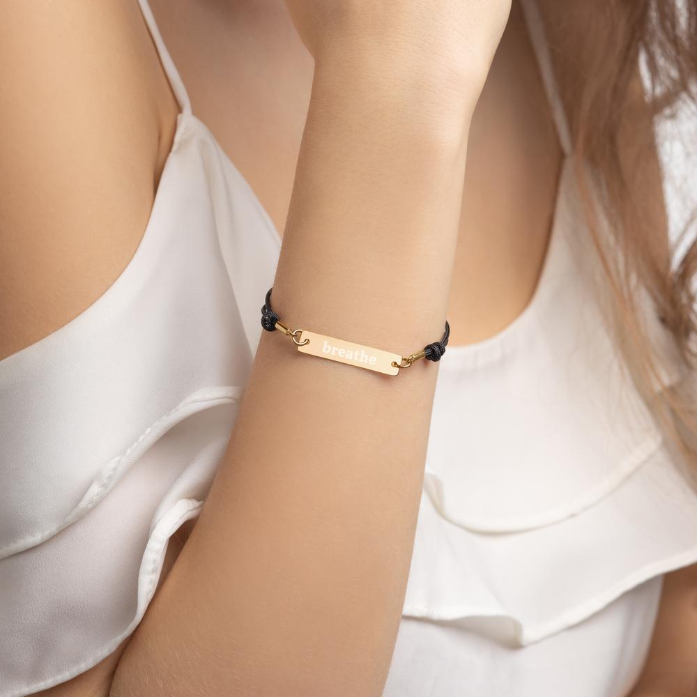 Breathe Yoga Bracelet Schmuck Armband
