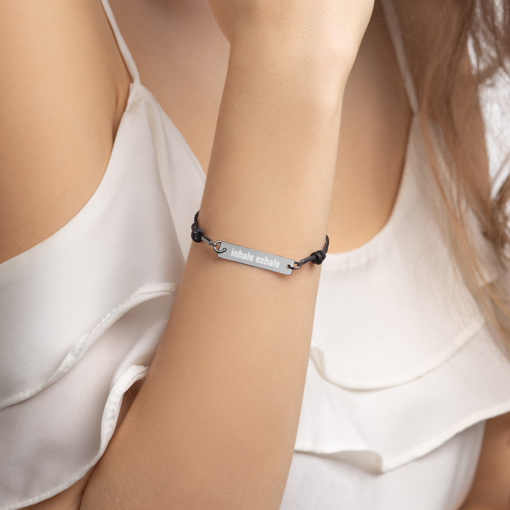 Inhale Exhale Yoga Bracelet Schmuck Armband
