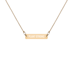 Plant Strong Vegan Necklace