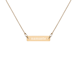 Gratitude Engraved Silver Bar Chain Necklace - avocadista