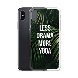 Avocadista Less Drama More Yoga iPhone Case