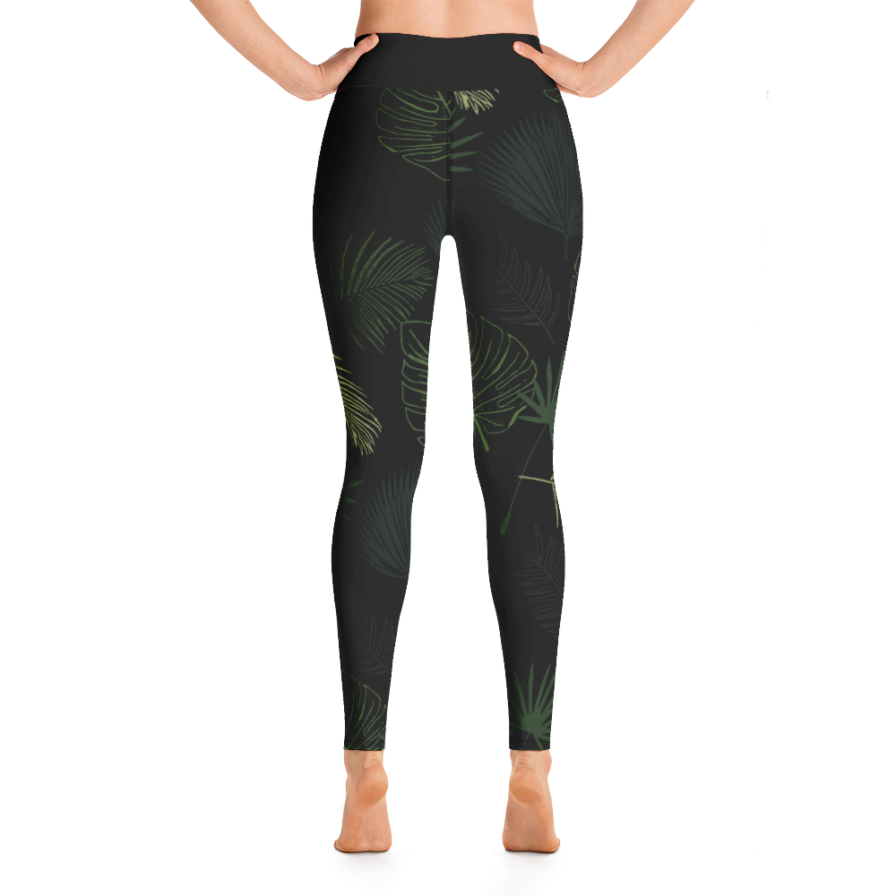 Avocadista Jungle Dark Green Yoga Leggings Pants Active Wear Pilates