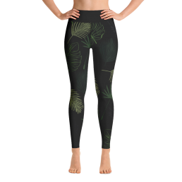 Jungle Dark Green Yoga Leggings