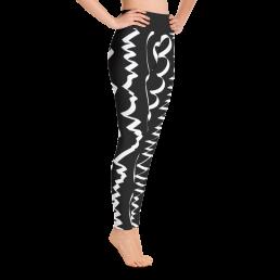 Abstract Black & White Yoga Leggings