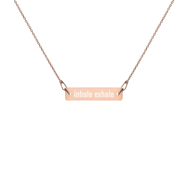 Inhale Exhale Yoga Necklace Schmuck Kette