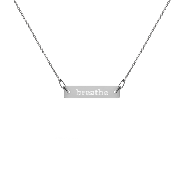 Breathe Yoga Necklace Schmuck Kette