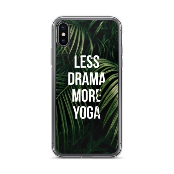 Avocadista Less Drama More Yoga iPhone Case