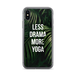 Less Drama More Yoga iPhone Case