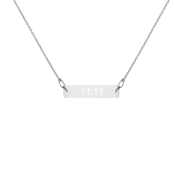 Awakening Engraved Silver Bar Chain Necklace