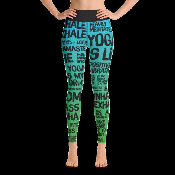 Avocadista Quotes Green Yoga Leggings Pants Active Wear Pilates