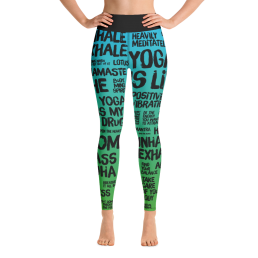 Avocadista Quotes Green Yoga Leggings Pants Active Wear Pilates