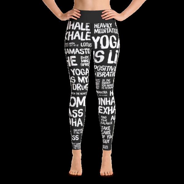Avocadista Quotes Black Yoga Leggings Pants