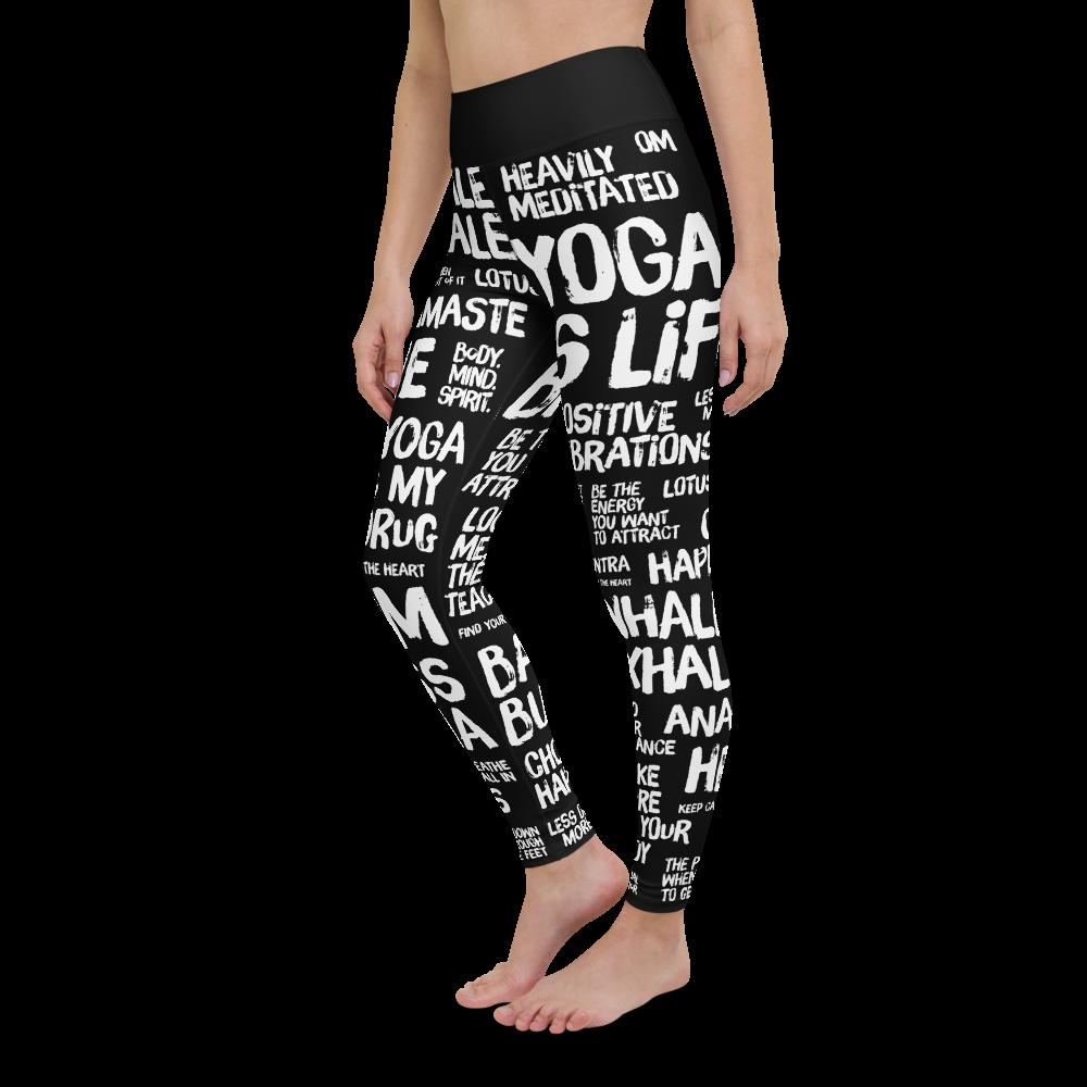 Quotes Black Yoga Leggings Pants