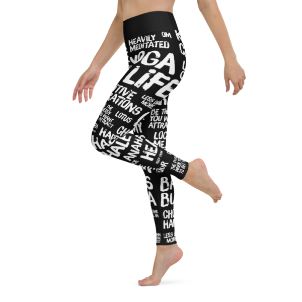 Quotes Black Yoga Leggings Pants Tights
