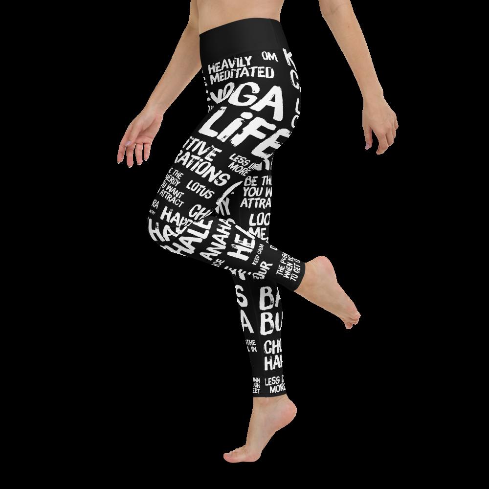 Quotes Black Yoga Leggings Pants Tights