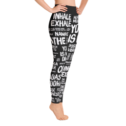Quotes Black Yoga Leggings