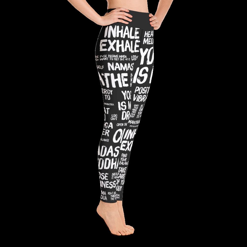 Quotes Black Yoga Leggings