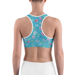 Watercolor Flowers Sports Bra