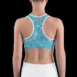 Avocadista Watercolor Flowers Yoga Sports Bra active Wear Pilates