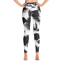 Avocadista Blush Brush Black White Yoga Leggings Pants Active Wear Pilates