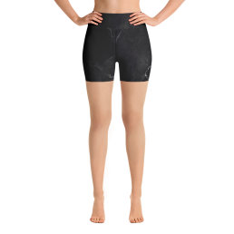 Avocadista Black Marble Yoga Shorts Active Wear Pilates