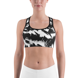 Avocadista Blush Brush Black White Yoga Sports Bra Active Wear Pilates