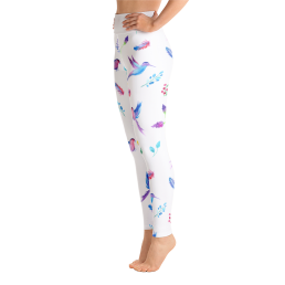 Watercolor Birds Yoga Leggings