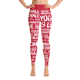 Avocadista Quotes Red Yoga Leggings Pants Active Wear Pilates