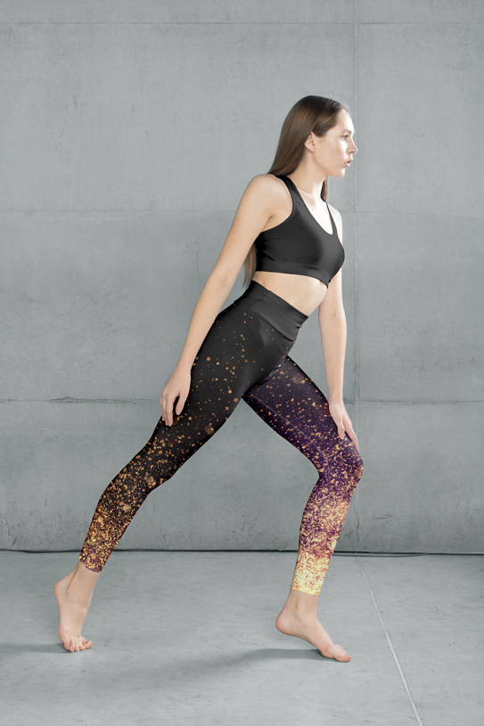 Avocadista Gold Dust Yoga Leggings Pants