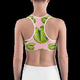 Avocadista Leafy Pink Yoga Sports Bra Active Wear Pilates