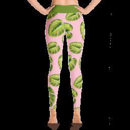 Avocadista Leafy Pink Yoga Leggings Pants Active Wear Pilates