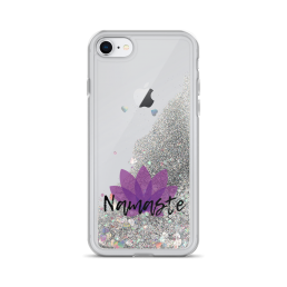Namaste Liquid Glitter iPhone Case