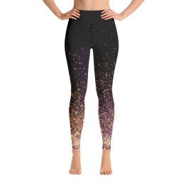 Gold Dust Yoga Leggings