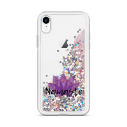 Avocadista Namaste Yoga Liquid Glitter iPhone Case